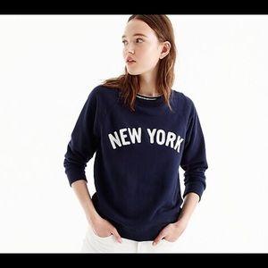 J. Crew New York Sweatshirt Size M